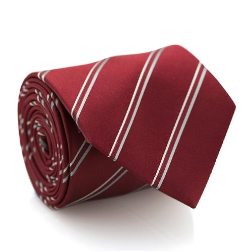 Necktie | Bordeaux Red with Stripes