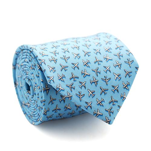 Necktie | Turquoise with Planes Pattern