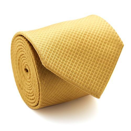 Necktie | Gold with Diamond Grid Pattern