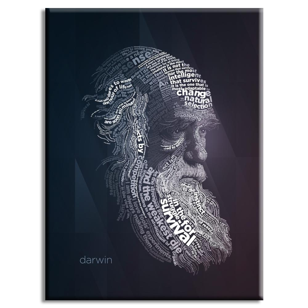 Darwin Typography Poster   Lynx Art