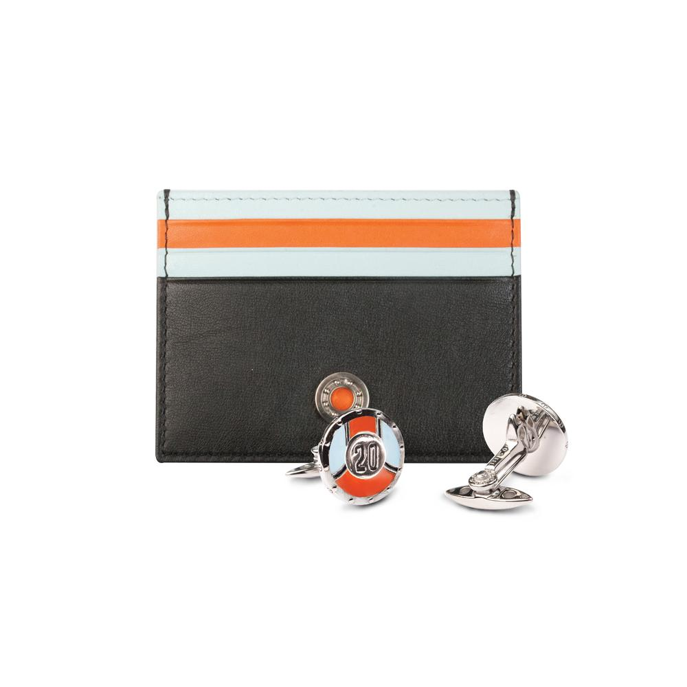 Leather Card Holder / Cufflinks Gift Set #20 | GTO London