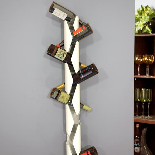 Ice Vine Wall Mounted Wine Bottle Holder in White