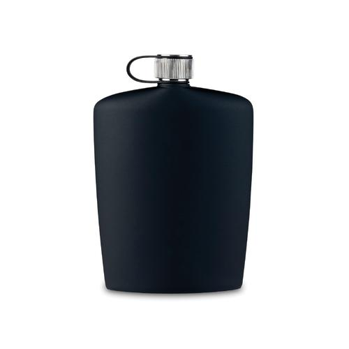Nuance Black Soft Touch Hip Flask