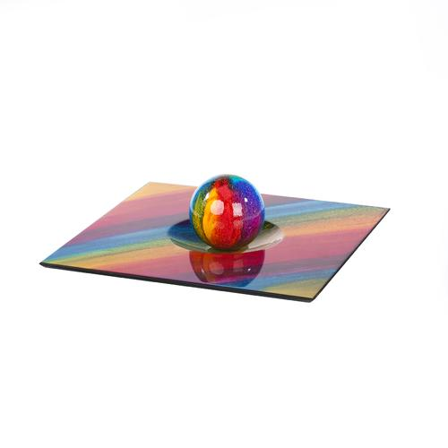 Colorful Square Centerpiece and Dome   100% hand crafted