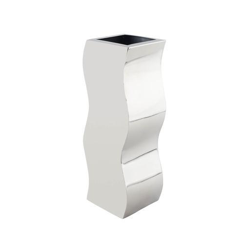 Stainless Steel | Circlular Zig-Zag Vase
