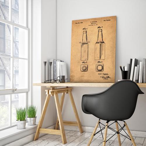 Beer Bottle-1934 Sepia/Antique   Canvas