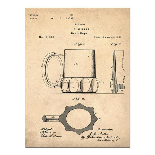 Beer Cooler - 1875 Sepia/Antique   Paper