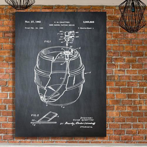 EZ Tap Keg-Chalk   Canvas