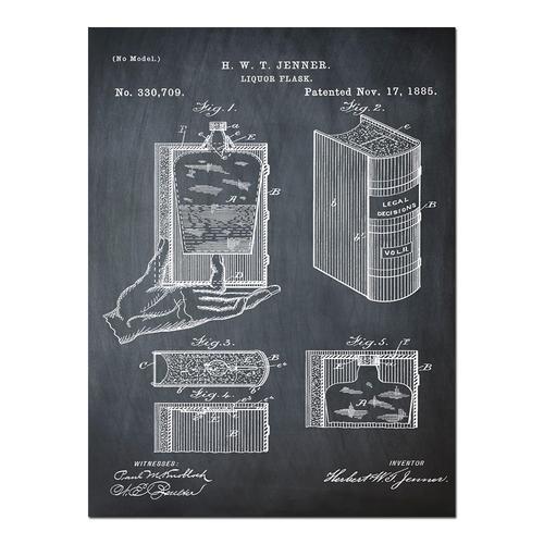 Hidden Flask-Chalk   Paper