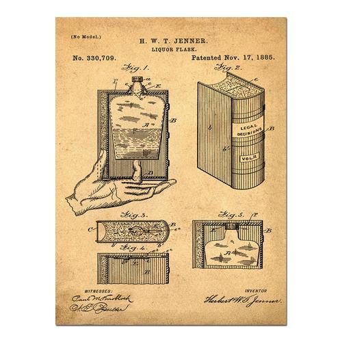 Hidden Flask-Sepia/Antique   Paper