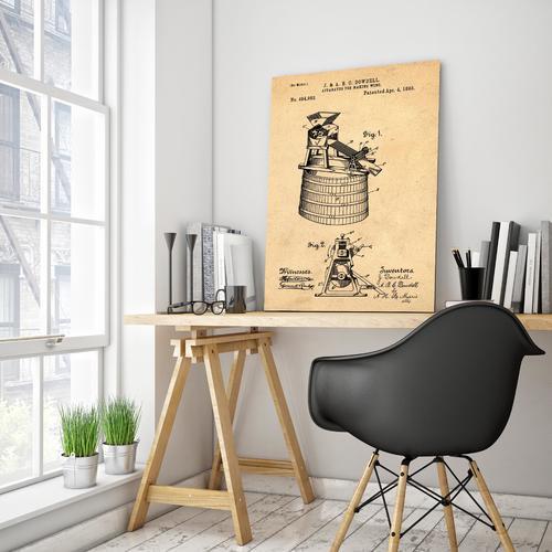 Wine Making-1893 Sepia/Antique   Canvas