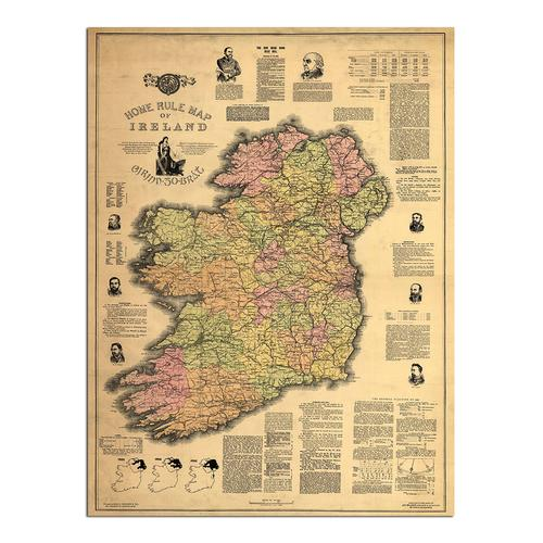 Home Rule Map of Ireland | Paper