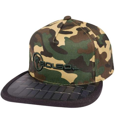 The Solar Charger Hat   Camo/Black