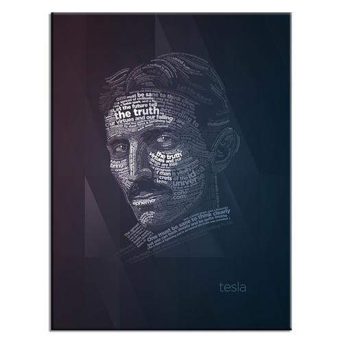 Telsa Typography Poster