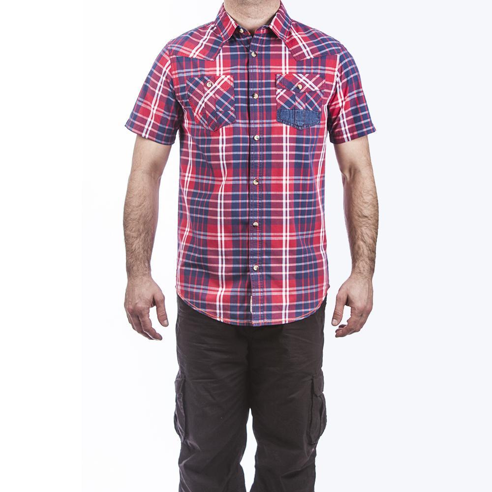 plaid short sleeve regular fit shirt 555 soul. Black Bedroom Furniture Sets. Home Design Ideas