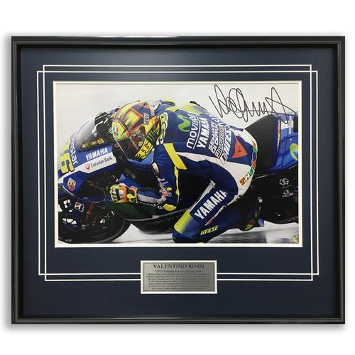 Valentino Rossi Signed 2015 Austin Rain Photo