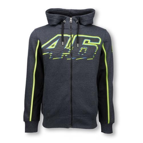 Valentino Rossi Zip up Grey Hoodie   Moto GP Apparel