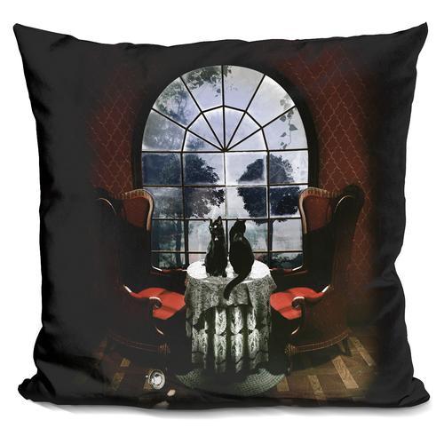 'Room skull' Throw Pillow