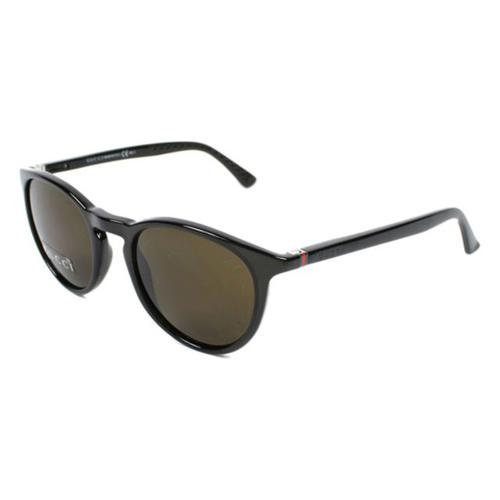 Round Sunglasses with Crystal Grey frames and Brown lenses