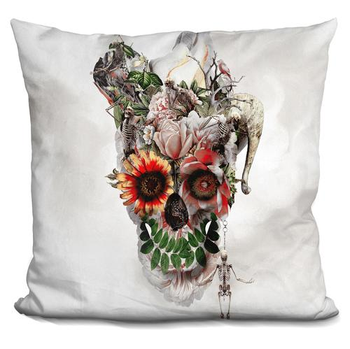 Riza Peker 'Broken Horn' Throw Pillow