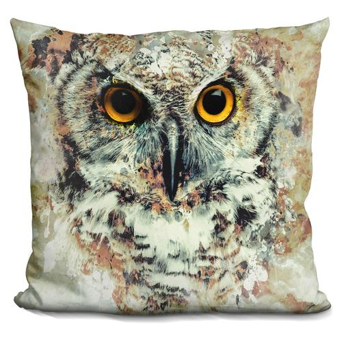 Riza Peker 'Owl II' Throw Pillow