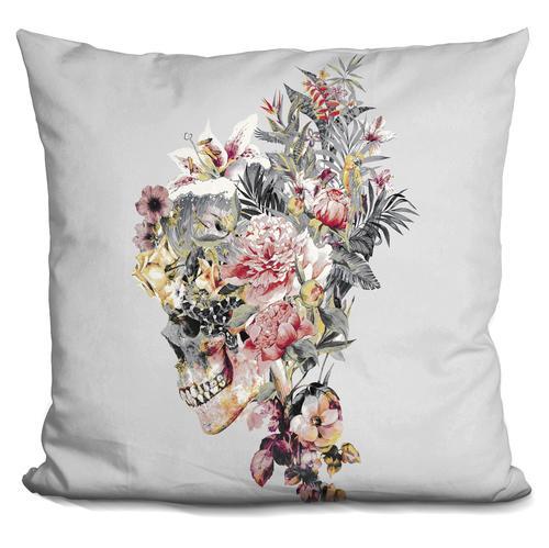 Riza Peker 'SKULL XII' Throw Pillow