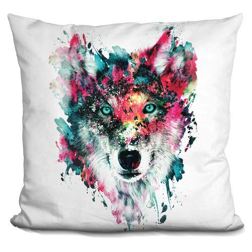 Riza Peker 'Wolf II' Throw Pillow