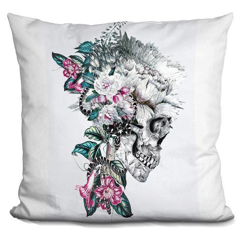 Riza Peker 'Momento Mori Rev V' Throw Pillow