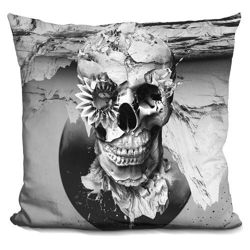 Riza Peker 'Skeleton I' Throw Pillow