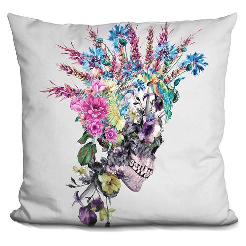 Riza Peker 'Skull Punk' Throw Pillow