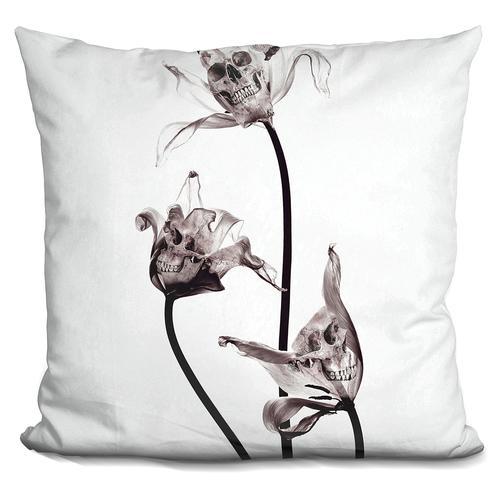 Riza Peker 'Skull' Throw Pillow
