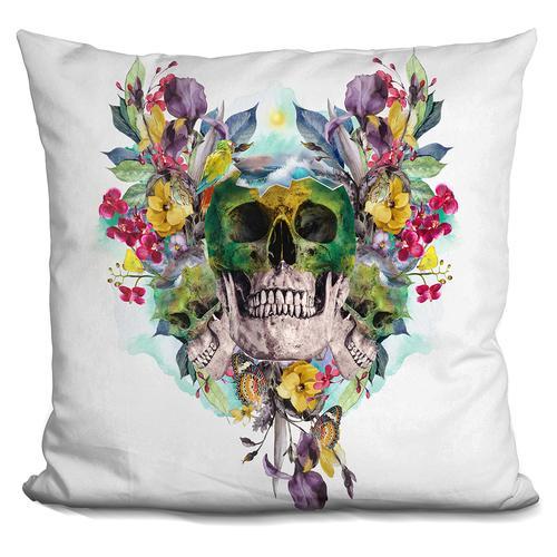 Riza Peker 'SKULLS' Throw Pillow