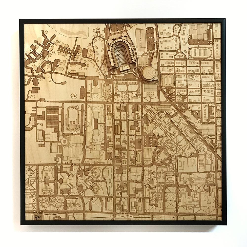 3D Stadium Maps   West Lafayette, IN