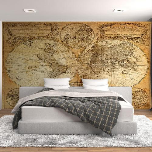 Old atlas of the world wall mural for Antique world map wall mural