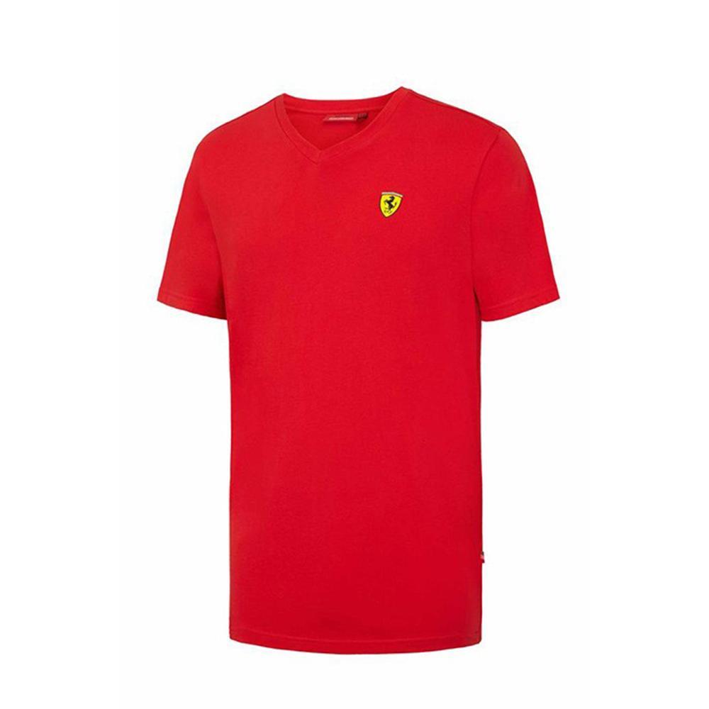 Scuderia Ferrari V-Neck T-Shirt Mens   Motorstore