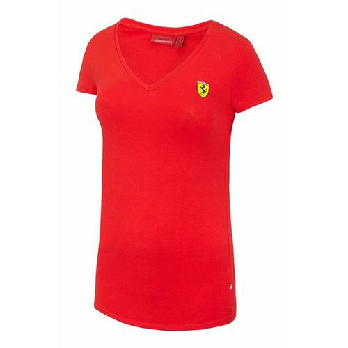 Scuderia Ferrari V-Neck T-Shirt Ladies