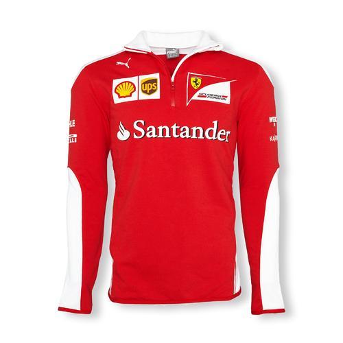 Scuderia Ferrari Team Half Zip Fleece Mens 2016 Replica