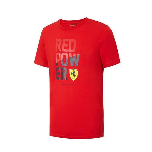 Scuderia Ferrari Red Power Graphic T-Shirt Mens